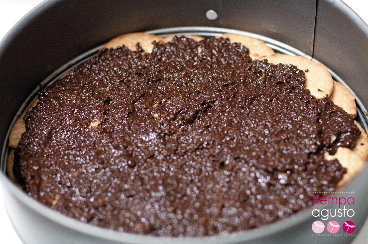Tarta de galletas y chocolate, o tarta de la güela