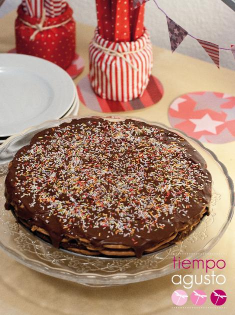 tarta de chocolate y galletas, o tarta de la güela