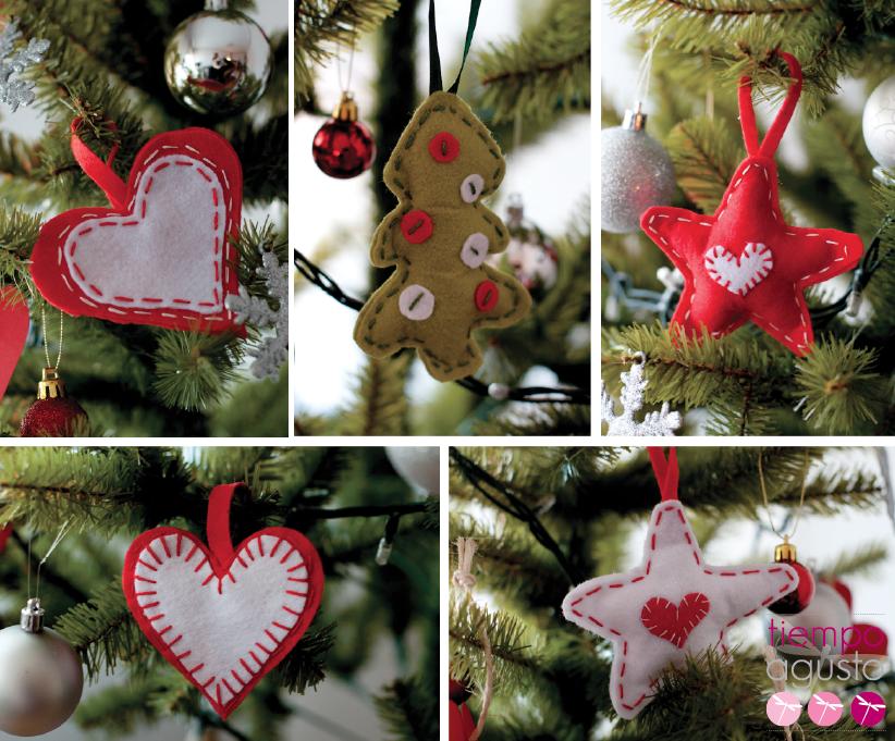 Adornos navide os de fieltro tiempoagusto sitios chulos - Adornos grandes de navidad ...