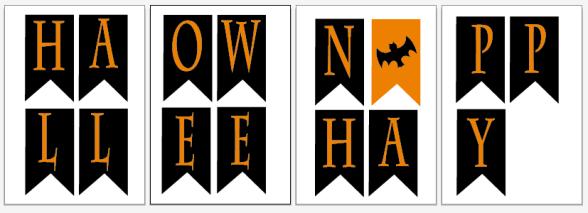 Descargables para halloween tiempoagusto sitios chulos for Guirnaldas para imprimir